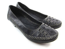 Bass Elena Women's Cushion Leather Black Dressy Loafers Heels Shoes Size 9.5M
