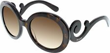AUTHENTIC PRADA PR27NS 2AU6S1 MINIMAL BAROQUE HAVANA/BROWN GRADIENT SUNGLASSES