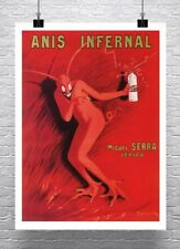 Anis Infernal 1905 Vintage Liquor Poster Rolled Canvas Giclee Print 24x32 in.