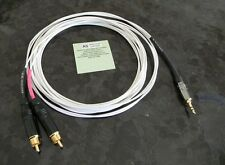 4FT SONY Walkman to Home Stereo 3.5mm to RCA Silver Plated Audio Cable Made USA