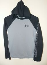 Boy's Under Armour Long Sleeve Waffle Thermal Hoodie Shirt YMD Gray #1259705