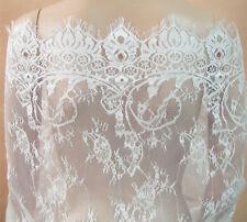"""Vestido de novia Tela de encaje de Chantilly nupcial 35"""" de ancho para y accesorios que cubrían"""