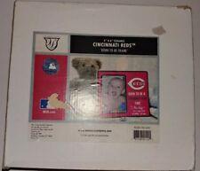 "New Cincinnati Reds MLB Baby ""Born to Be Frame"" Ceramic Photo Frame 4x6"