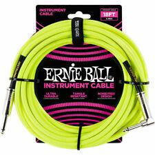 Instrumentenkabel Ernie Ball Gewebekabel EB6085 6m Neon Yellow Audio Kabel Gitar