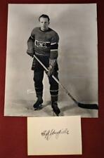 """Vintage Cliff """"Red"""" Goupille Montreal Canadiens Rice Studio Photo and Autograph!"""