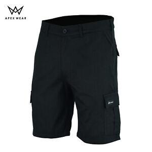 Cargo Work Mens  Shorts Black Siz 30 to 44 black cargo trouser
