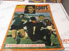 SPORT ILLUSTRATO N.44 1956 -  Milan, Inter, Guido Messina, Beccali