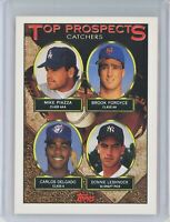 1993 Topps #701 MIKE PIAZZA - CARLOS DELGADO Top Prospect Catchers