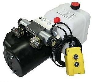 Flowfit 12V DC Double Acting Hydraulic Power pack, with Detachable Two Button Pe
