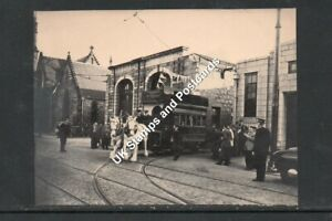 Small Photo Of Horse Tram At Aberdeen Queens Cross Depot At Closure See Scans