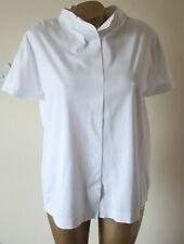 COS Blouse Top Shirt Size S Collared Short Sleeve Pure White Flawless