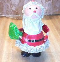 RARE ANTIQUE SANTA CHRISTMAS PAPER MACHE LANTERN HOLY NIGHT GERMANY Made ca1950
