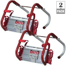 Fire Escape Ladder 2 Story Emergency Anti-Slip Safety Quick Release 2 Pack