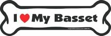 New listing Imagine This Bone Car Magnet, I Love My Basset, 2-Inch by 7-Inch