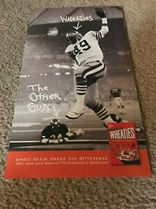 Vintage EARL COOPER SUPER BOWL XIV WHEATIES CEREAL BOX Poster Print Ad 49ERS '98