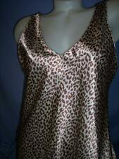 """""""NNER MOST"""" ANIMAL PRINT SATIN BABY DOLL/CHEMISE NIGHTGOWN sz: M"""