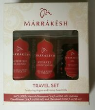 New Marrakesh Argan and hemp Seed Oil Shampoo Conditioner and marrakesh oil