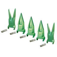 Set of 5 - Esco Style SuperV Twin/Single Tiger Rock Teeth & Pins - V29Vy, V29Tvy
