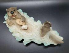 """Vintage Castagna Resin Sea Otter Figurine Italy 1991 Retired 8"""""""