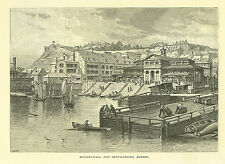 Quebec > Lot of 5 Antique Prints   >Canada  1874  Montreal, Point Noir and more