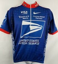 Nike USPS Trek Yahoo Visa Bicycle Cycling Bike Jersey Made In Italy Sz L