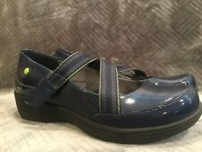 Dansko Blue Patent Leather Mary Janes Comfort Shoes Womens Size 37 6.5