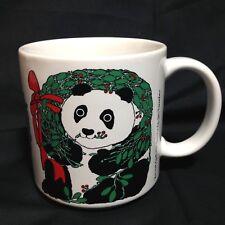 Vintage Taylor & Ng Xmas Panda Mug 1985 10oz Christmas