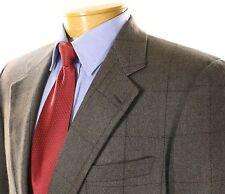 Aquascutum Brown Red Windowpane Lambswool Alpaca Blazer Sportcoat 40R Canada