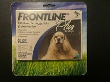 Frontline Plus Flea and Tick Treatment for Dogs (Medium Dog, 23-44 Pounds, 3