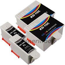 4 Pack 10B 10C #10 Compatible Ink Cartridges For  Kodak ESP 3 5 7 9