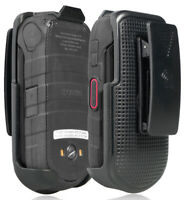 Black Belt Clip Holster Case Stand for Kyocera DuraXV LTE (Only E4610 E4710)