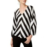 INC NEW Women's Referee Striped Wide-sleeve Blouse Shirt Top TEDO