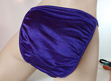 Deep Purple Silky Nylon Satin String Bikini Panties Tanga Knickers UK 20 3XL