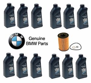 For BMW 550i 650i 12 Liters Fully Synthetic 5W-30 Motor Oil & Filter Kit Genuine