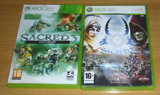 2 jeux de role RPG XBOX 360 - Sacred 2 fallen angel + sacred 3 first edition