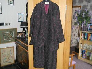 Beautiful Roman Originals Maxi Dress and Jacket Suit Size 22 BLACK/PURPLE  LINED