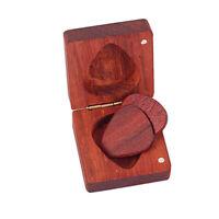 Support de médiator carré pour guitare en palissandre