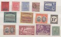 GB Commonwealth KGV/KGVI of 13 Values Mint MH J2081