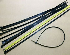 780mm x 12.7mm Large Releasable Cable Ties Black Heavy Duty Nylon Tie Multi Qty