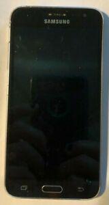[BROKEN] Samsung Galaxy J3 Cell Phone US Cellular Black Parts No Screen
