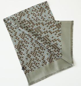 100% Silk Mulberry twill Scarf men neckerchief Wrap gray green blue brown MN7-7