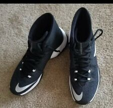 Men's Nike Zoom Shoes High Tips Size 8.5 Black And White Basketball