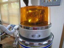 Large Vintage DIETZ 300-X 3 Bulb Amber Rotating Emergency Beacon Light 12V Works