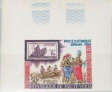Upper Volta obervolta 1969 256 u c62 philexafrique abidjan stamp on stamp mnh
