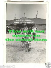 Ringling Bros Barnum Bailey Circus tent 1940s vintage Greatest Show on Earth