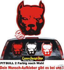 Pitbull pegatinas cartattoo, 2 colores 50x38cm p4 coche pegatinas