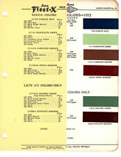 1952 DODGE CORONET DIPLOMAT WAYFARER SIERRA 52 PAINT CHIPS ACME 8