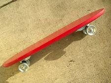 Vintage 50s / 60s sidewalk red skateboard surfboard steel wheels new old stock