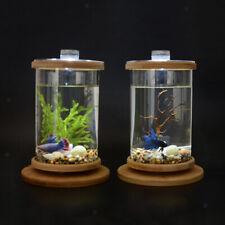 360 Degree Rotatable Desktop Aquarium Glass Fish Tank Home Office Decor