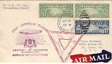 USA: 1933 GRAF ZEPPELIN, BUSTA AIR MAIL SUDAMERICA-USA. RARA